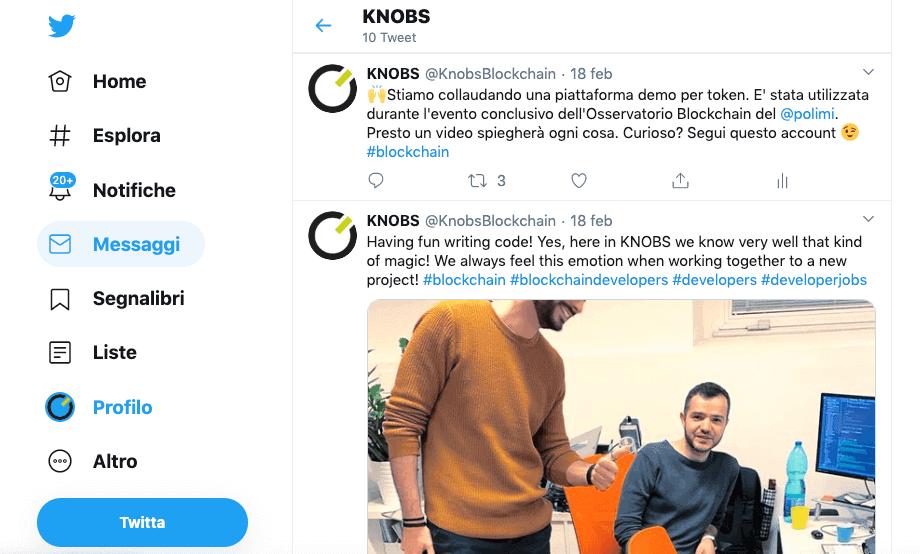 La blockchain è come twitter