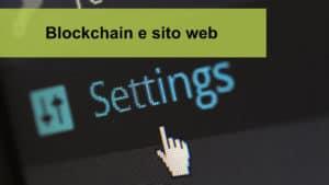 Blockchain e sito web