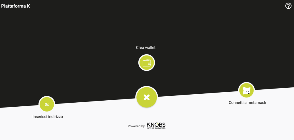 KNOBS | use case blockchain piattaforma K